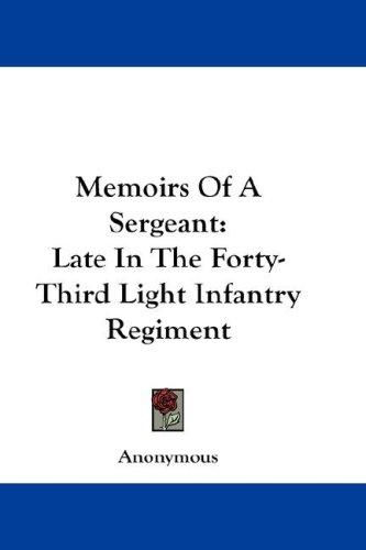Memoirs Of A Sergeant