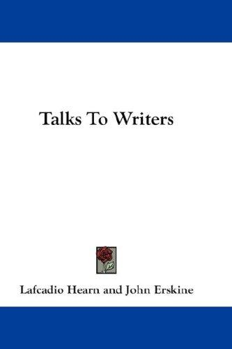 Download Talks To Writers