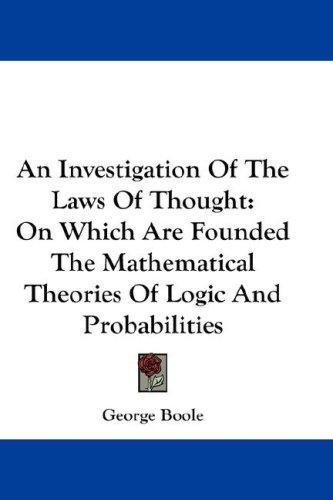 Download An Investigation Of The Laws Of Thought