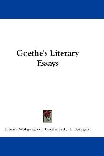 Goethe's Literary Essays
