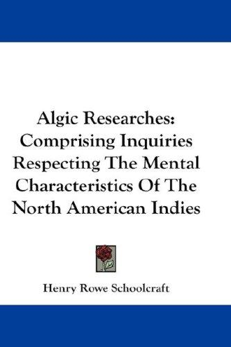 Download Algic Researches