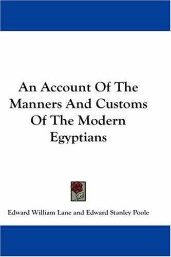 Download An Account Of The Manners And Customs Of The Modern Egyptians