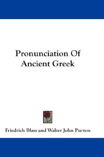 Pronunciation Of Ancient Greek