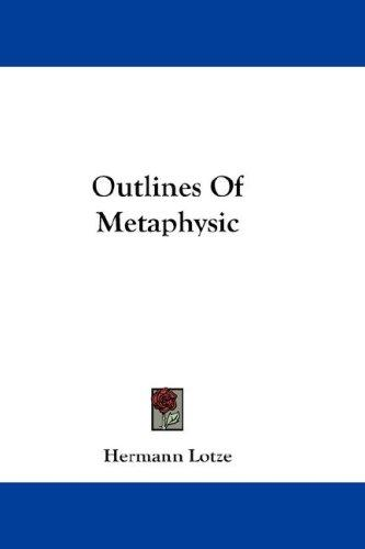 Download Outlines Of Metaphysic