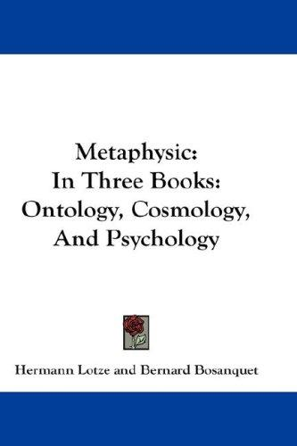 Download Metaphysic: In Three Books