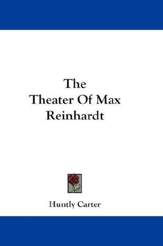 Download The Theater Of Max Reinhardt