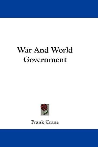 War And World Government
