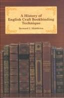 Download A history of English craft bookbinding technique