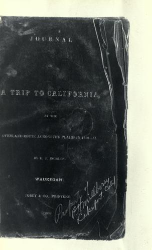 Journal of a trip to California
