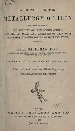 Download A treatise on the metallurgy of iron