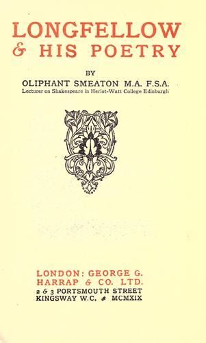 Longfellow & his poetry