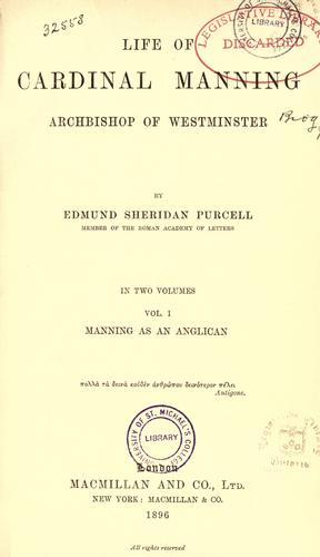 Download Life of Cardinal Manning, Archbishop of Westminster