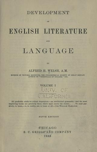 Development of English literature and language