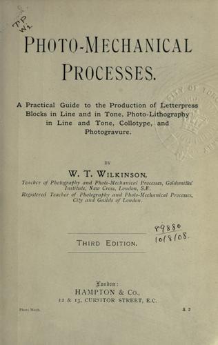 Photo-mechanical processes