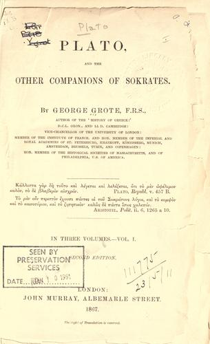 Download Plato and the other companions of Sokrates.