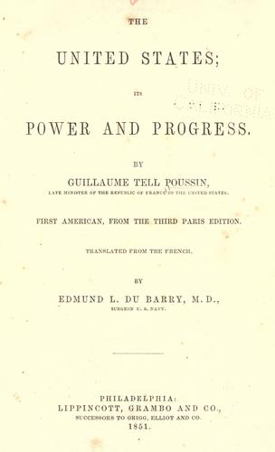 Download The United States, its power and progress
