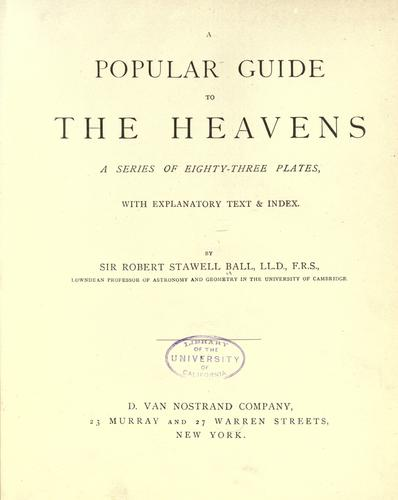 Download A popular guide to the heavens