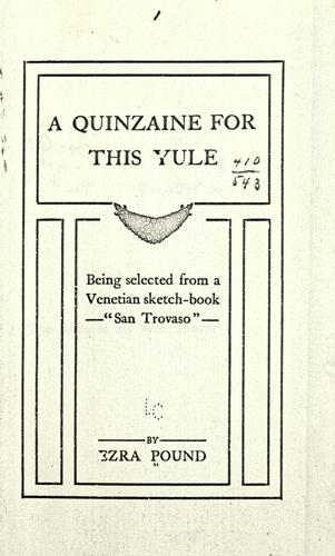 A quinzaine for this Yule
