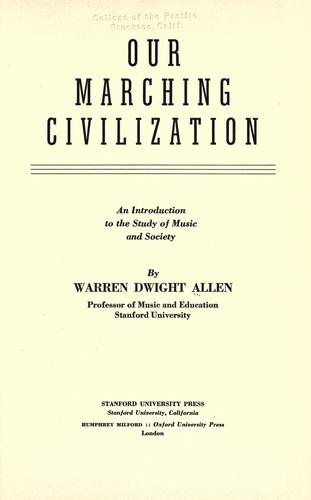 Download Our marching civilization