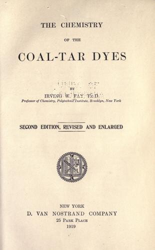 The chemistry of the coal-tar dyes