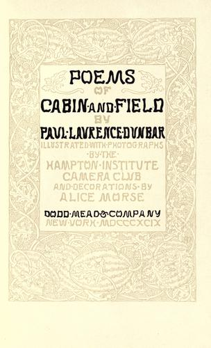 Download Poems of cabin and field