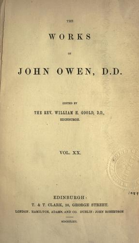 The works of John Owen