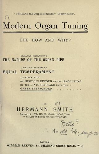 Download Modern organ tuning