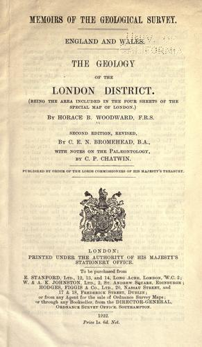 Download The geology of the London district