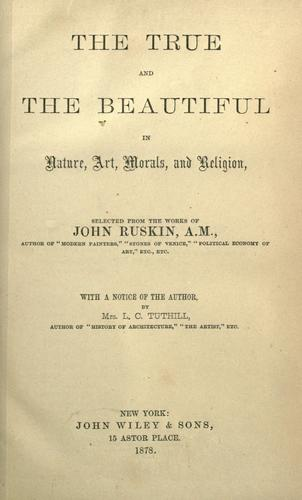 Download The true and the beautiful in nature, art, morals, and religion