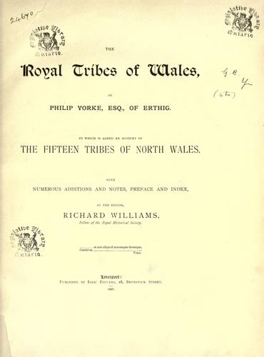 Download The royal tribes of Wales