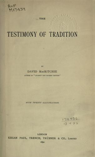 Download The testimony of tradition.