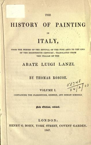 Download The history of painting in Italy