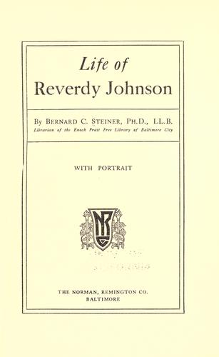 Download Life of Reverdy Johnson