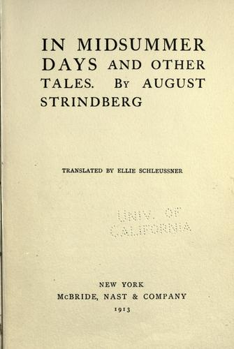 In midsummer days, and other tales