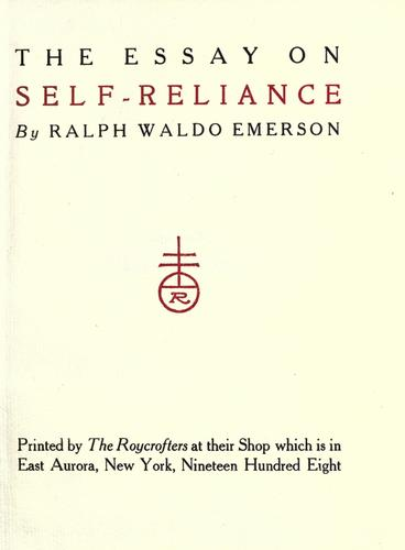 Download The essay on self-reliance