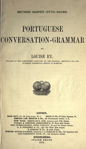 Portuguese conversation-grammar.