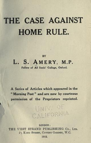 The case against home rule.