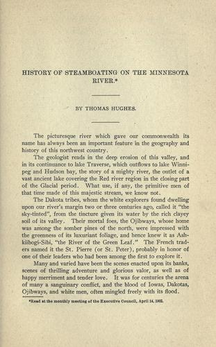 History of steamboating on the Minnesota River by Hughes, Thomas