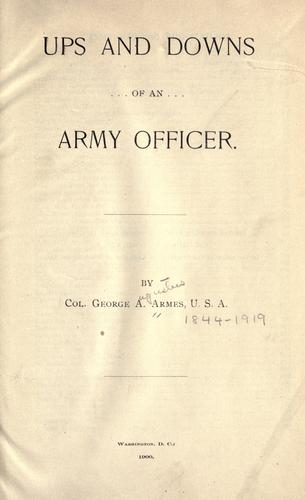 Download Ups and downs of an army officer