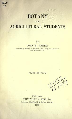 Botany for agricultural students.