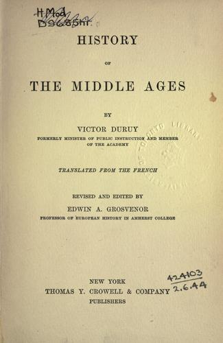 Download History of the Middle Ages.