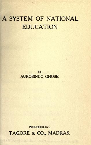 A system of national education