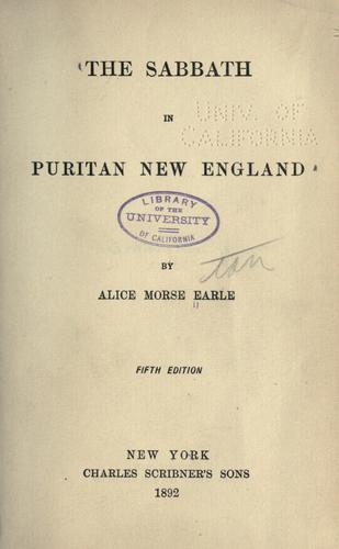Download The Sabbath in Puritan New England