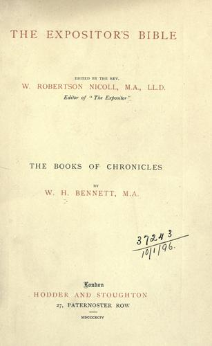 The books of Chronicles.
