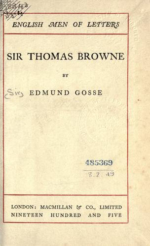 Download Sir Thomas Browne.