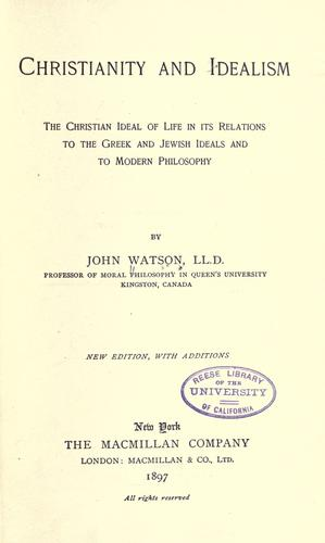 Download Christianity and idealism