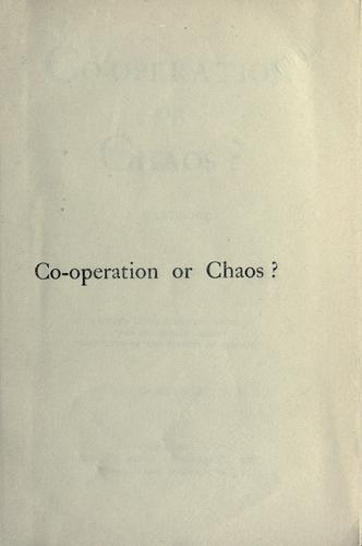 Co-operation or chaos?
