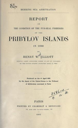Download Report on the condition of the fur-seal fisheries of the Pribylov Islands in 1890.