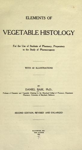 Download Elements of vegetable histology