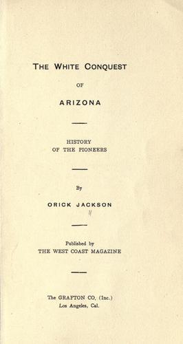 The white conquest of Arizona